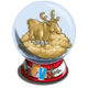 Reindeer Snow Globe-icon