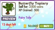 Butterfly Topiary Market Info (July 2012)