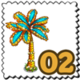 Ornamental Palm Tree Stamp-icon