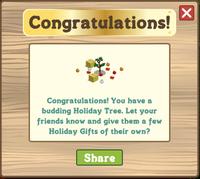 Holiday Tree 2011 Congratulations Message