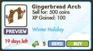 Gingerbread Arch Market Info