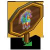 Rainbow Swirl Pegacorn Mastery Sign-icon