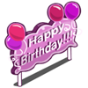 Pink B-Day Sign-icon