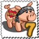 Tattoo Pig Stamp-icon