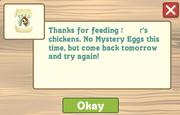 Feed the chicken noegg