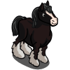 Black Shire Horse-icon