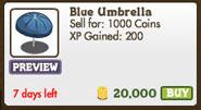Facebook farmville freak blue umbrella market
