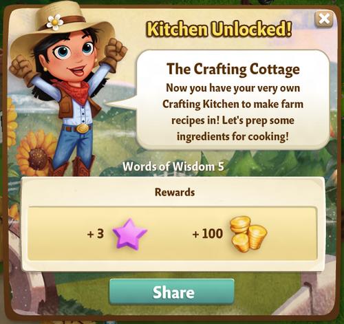 The Crafting Cottage Reward