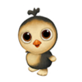 Baby Gold-Laced Cochin Chicken.png