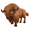 Brown American Buffalo