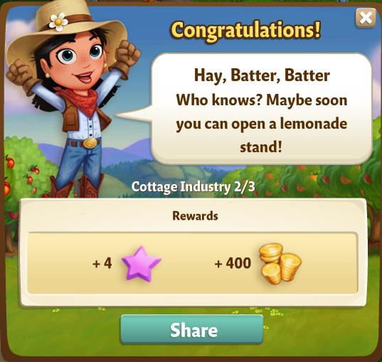 Hey, Batter, Batter - Reward