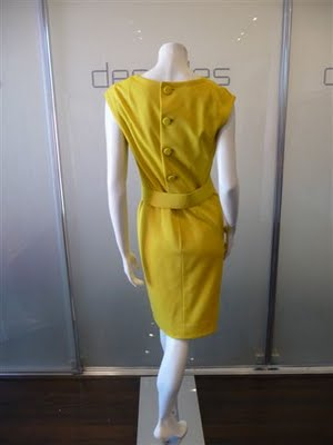 PAULINE TRIGERE YELLOW MOD BELTED DRESS C LATE 60S (4)