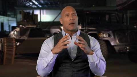 "The Fate of the Furious Dwayne Johnson ""Luke Hobbs"" Behind the Scenes Movie Interview"
