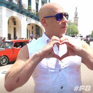 Vin Diesel F8 BTS