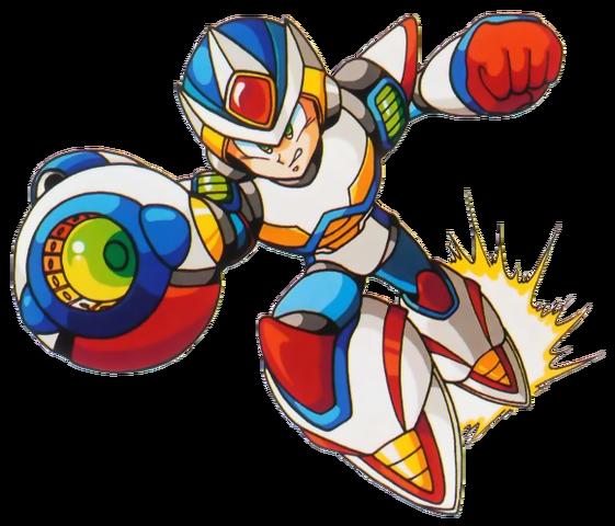 File:Mega Man X - Mega Man X dashing with his Second Armor.png