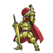 Ghosts 'n Goblins - Sir Arthur with Gold Armor as he appears in Otoranger