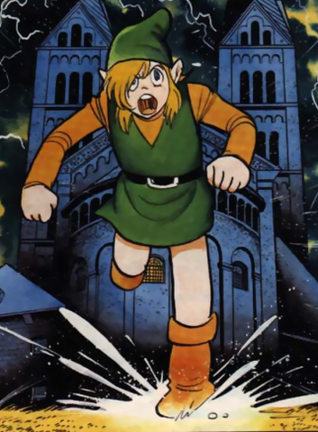 File:The Legend of Zelda - Link as he appears in the Nintendo Power Comics version of A Link To The Past.png