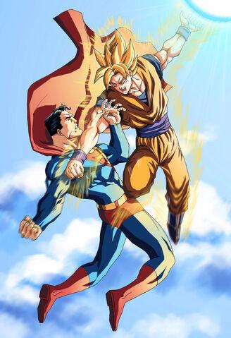 File:Goku vs superman.jpg
