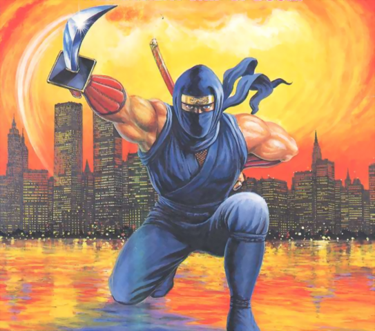 File:Ninja Gaiden - Ryu Hayabusa as he appears on the front art cover of the NES version of Ninja Gaiden III.png