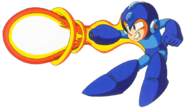 Mega Man Classic - Mega Man firing a charged blast from his Mega Buster