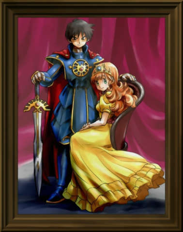 File:Dragon Quest - The Decedent of Erdrick with Princess Gwaelin.png