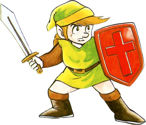 File:The Legend of Zelda - Link as he first appears in February 21, 1986.png