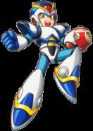Mega Man X - Mega Man X wearing his First Armor on the front box art of Mega Man X