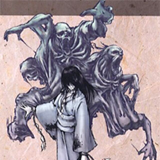 Concept art of Kirie's malevolent ghost.