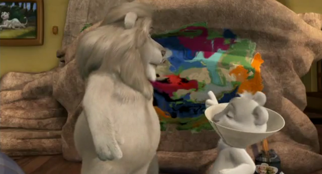 File:Father of the Pride Hunter Laugh and Point at Kate's Painting.png
