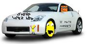 Orange fronk's car