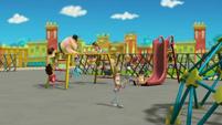 The school playground