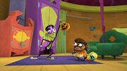 Fanboy and Chum Chum ready to trick-or-treat s2e10