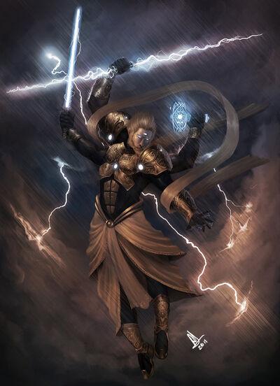 Indra god of thunder