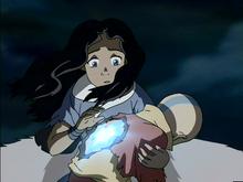 Katara revives Aang