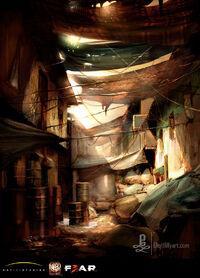 Fear3-Concept art of the Village.