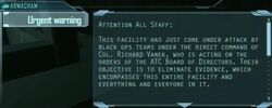Urgent warning