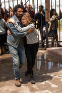 Travis and Madison embrace when he arrives at the gates-2-935