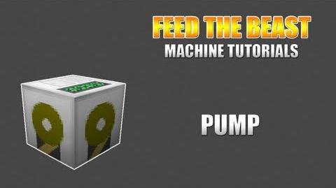 Feed The Beast Machine Tutorials Pump (Buildcraft)