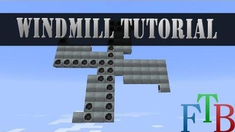 Minecraft Feed The Beast tutorial Wind mill power!-0