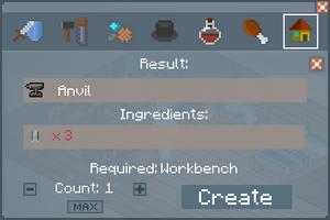 Anvil - Crafting Screen