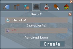Warm Hat - Creation Screen