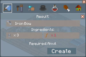 Iron Bow - Creation Screen