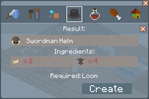 Swordsman Helm - Creation Screen