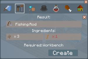 Fishing Rod - Crafting Screen