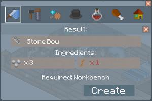 Stone Bow - Creation Screen