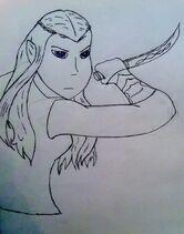 Tauriel warrior by javott-d71br0q