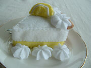 Felt lemon merange pie