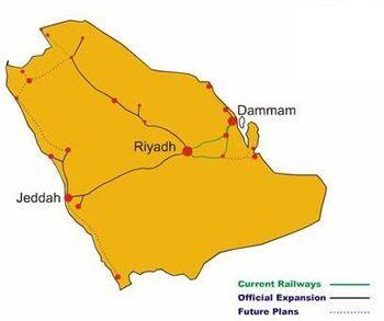 Saudirailwayslines