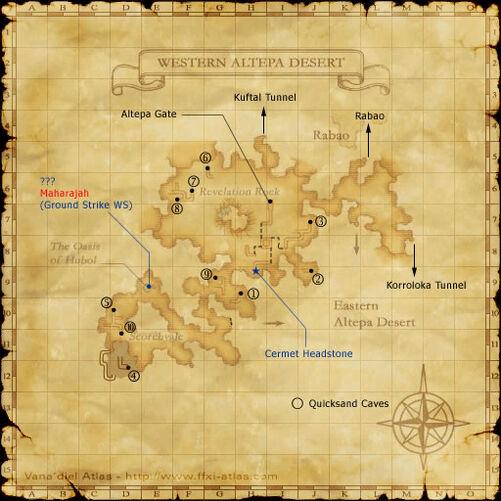 Western Altepa Desert Map