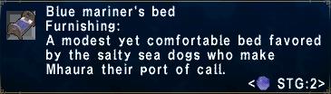 Blue mariner's bed